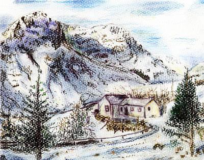 Alpine Winter Wonderland Art Print