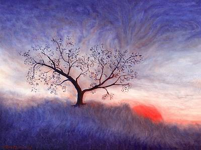 Painting - A Wintering Tree by Mark Minier