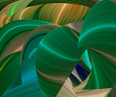 Reconstruction Digital Art - A Winter's Day by Rick Wolfryd