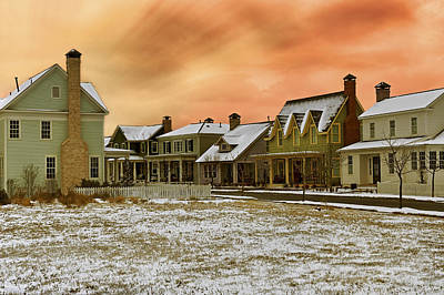 Photograph - A Winter's Evening - The Village At Hendrix - Conway - Arkansas - Sunset by Jason Politte
