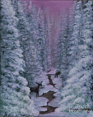 Painting - A Winters Journey by Kristi Roberts