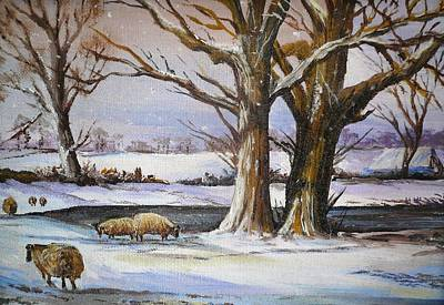 Winter Scenes Painting - A Winter's Morning by Andrew Read