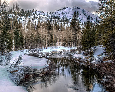 Art Print featuring the photograph A Winters Peace Of Reflection by William Havle