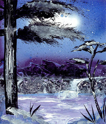 Painting - A Winters Valley by Marc Chambers