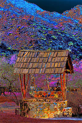 Wishing Well Digital Art - A Wishing Well Pop Art by Phyllis Denton