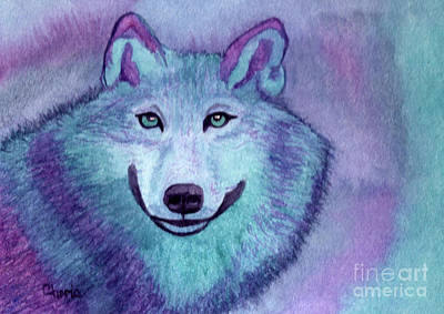 Painting - A Wolf Of A Different Color by Vikki Wicks