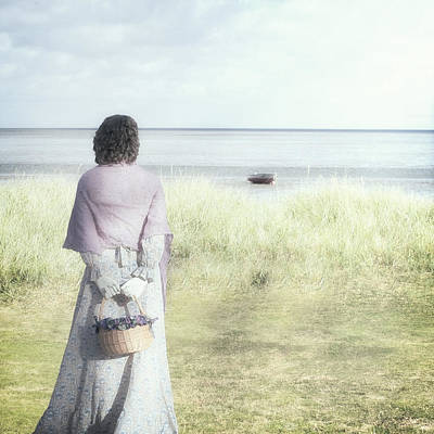 Shawl Photograph - A Woman And The Sea by Joana Kruse