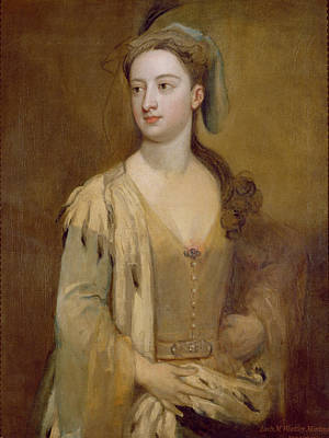 Orientalists Photograph - A Woman, Called Lady Mary Wortley Montagu, C.1715-20 Oil On Canvas by Sir Godfrey Kneller