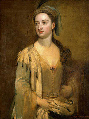 Kneller Painting - A Woman Called Lady Mary Wortley Montagu Inscribed In Red by Litz Collection