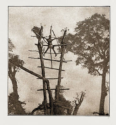 A Woman Crucified At Benin Art Print by Litz Collection