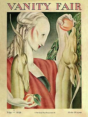 Gray Hair Photograph - A Woman Feeding Apples To A Deer by J Franklin Whitman Jr
