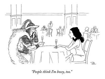 A Woman Has A Date With Ghengis Khan Art Print by Dan Roe