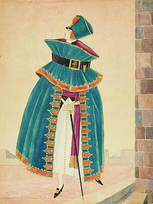 A Woman Holding A Cane Art Print by George Wolfe Plank