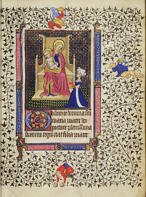 1420 Painting - A Woman In Prayer Before The Virgin And Child Follower by Litz Collection