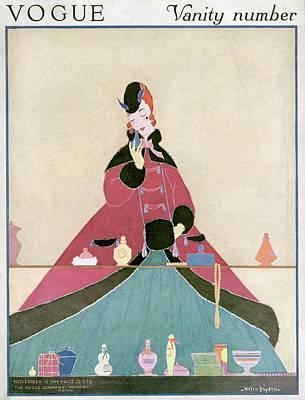 A Woman Looking At Toiletries Art Print