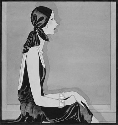 A Woman Modeling A Coup De Foudre Print by Douglas Pollard