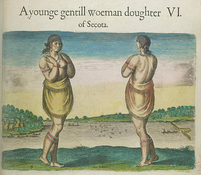 A Woman Of Secoton Print by British Library