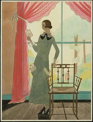 A Woman Reading A Letter Art Print by Harriet Meserole