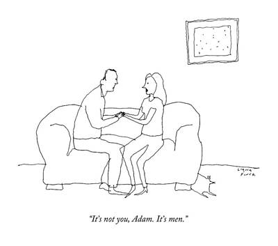 Dating Drawing - A Woman Says To A Man by Liana Finck