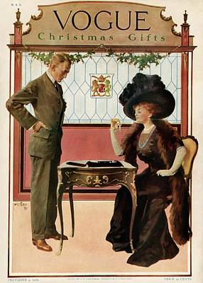 A Woman Shopping Print by Will Foster
