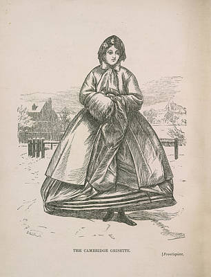 A Woman Walking In The Snow Art Print