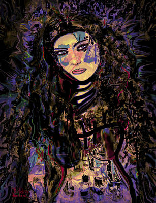 A Woman Warrior Art Print by Natalie Holland