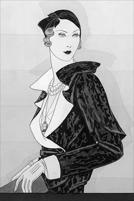 A Woman Wearing A Cap By Marie-alphonsine Art Print by Douglas Pollard