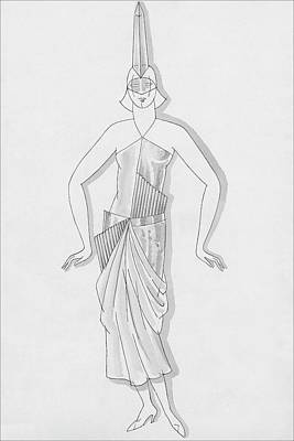 1930 Digital Art - A Woman Wearing A Costume by Robert E. Locher