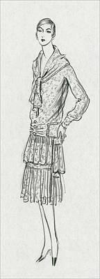 11th Digital Art - A Woman Wearing A Louiseboulanger Dress by Porter Woodruff