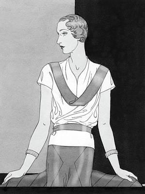 Lucille Digital Art - A Woman Wearing A Lucille Paray Blouse by Douglas Pollard