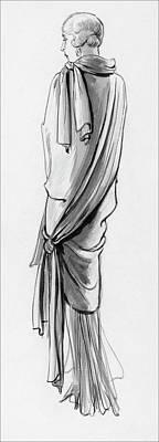 Velvet Digital Art - A Woman Wearing A Paquin Wrap by Porter Woodruff
