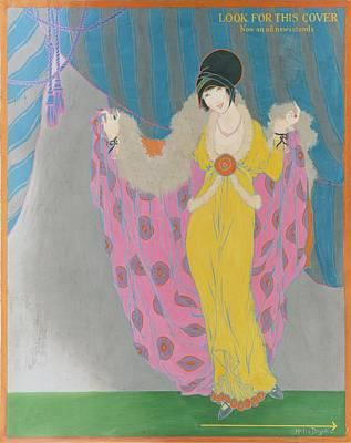 This Digital Art - A Woman Wearing A Purple Cape by Helen Dryden