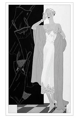 A Woman Wearing A Slip Print by Eduardo Garcia Benito