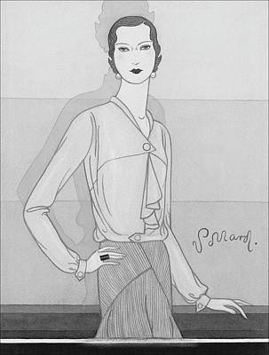 Chine Digital Art - A Woman Wearing A Worth Blouse by Douglas Pollard