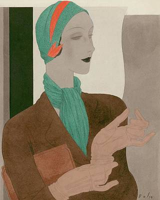 Digital Art - A Woman Wearing Designer Clothing by William Bolin