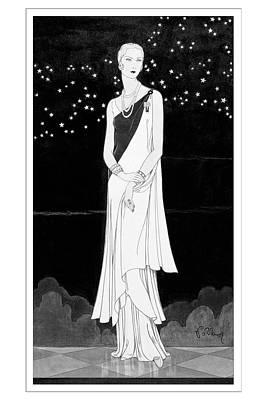 A Woman Wearing Reboux Art Print by Douglas Pollard