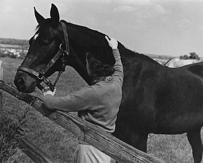 Photograph - A Woman With A Horse by Lusha Nelson