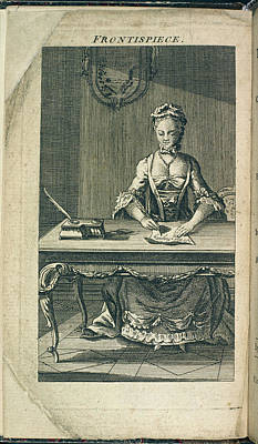 A Woman Writing Art Print by British Library