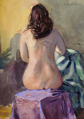Painting - A Woman's Back by Mark Lunde