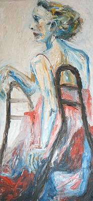 Metal Sheet Painting - A Woman's Fate by Esther Newman-Cohen