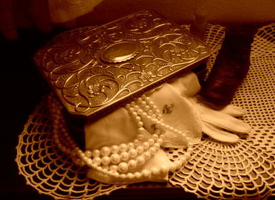 Old Jewelry Box Photograph - A Mother's Memories by Wild Thing