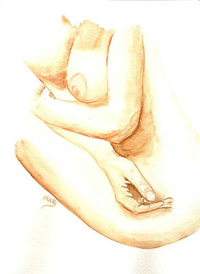 A Woman's Touch Art Print by Donna Blackhall