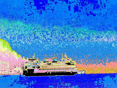 Digital Art - A Wonderful Day On The Sound by Tim Allen