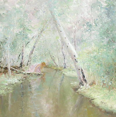 River Nymph Painting - A Wood Nymph 3 by Jan Matson