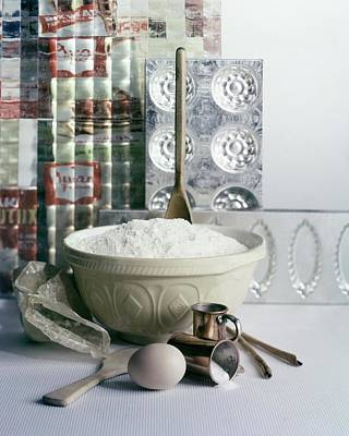 Wooden Bowl Photograph - A Wooden Spoon In A Bowl Of Flour by Richard Jeffery