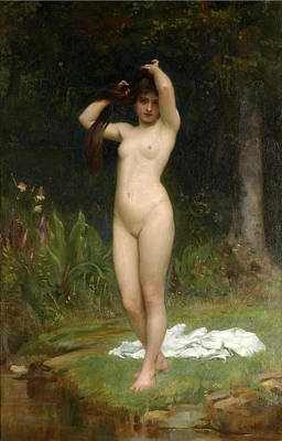 Calderon Painting - A Woodland Nymph by Philip Hermogenes Calderon