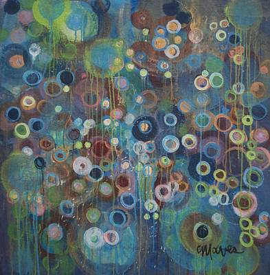 Painting - A World Of Circles by Laurie Maves ART