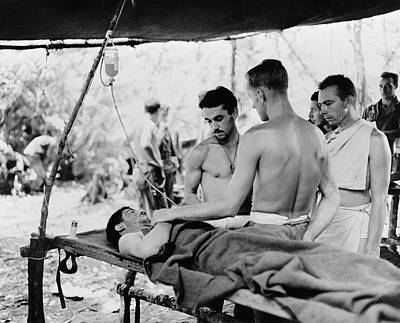 A Wounded Soldier At The Portable Print by Stocktrek Images