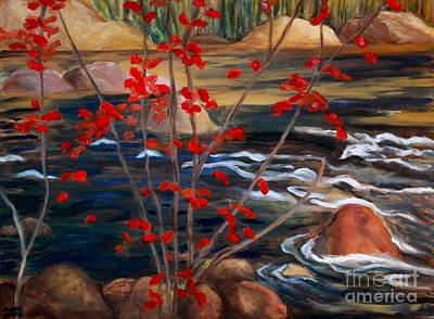 A Y Jackson The Red Maple Inspired Art Print by Sherrill McCall