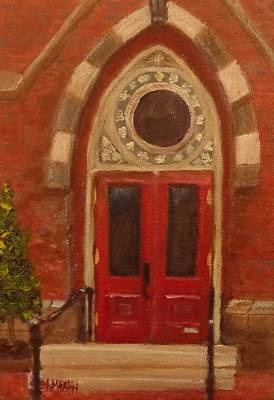 Painting - A Yale Church by Annie St Martin